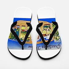 Idaho Greetings Flip Flops