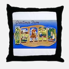 Idaho Greetings Throw Pillow