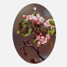 Branch of Apple Blossoms Ornament (Oval)