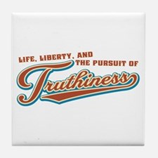 The Pursuit of Truthiness Tile Coaster