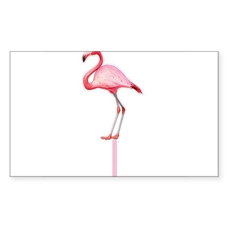 Flamingo Cup Sticker (Rectangle)