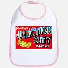 Junction City Kansas Greetings Bib