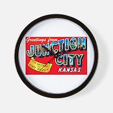 Junction City Kansas Greetings Wall Clock