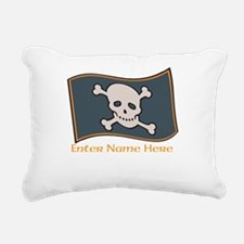 Personalized Pirate Flag Rectangular Canvas Pillow
