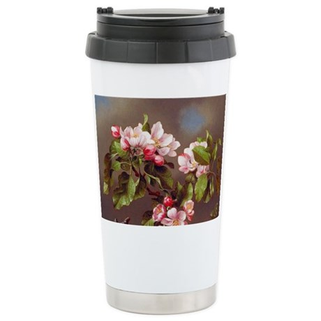Branch of Apple Blossoms Stainless Steel Travel Mu