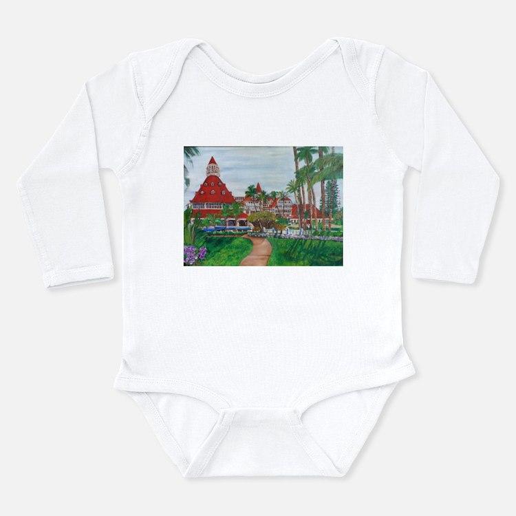 Coronado Hotel Del Long Sleeve Infant Bodysuit