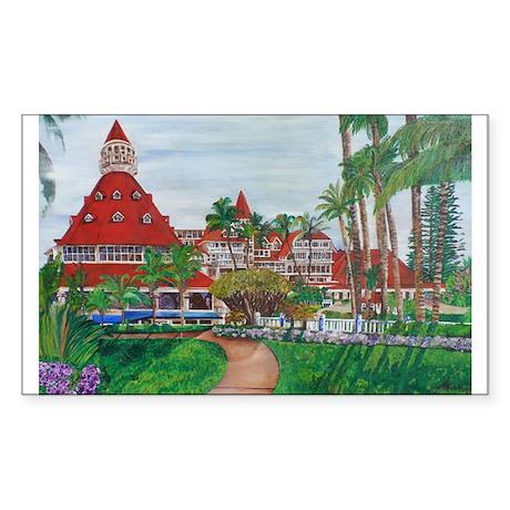 Coronado Hotel Del Sticker (Rectangle)