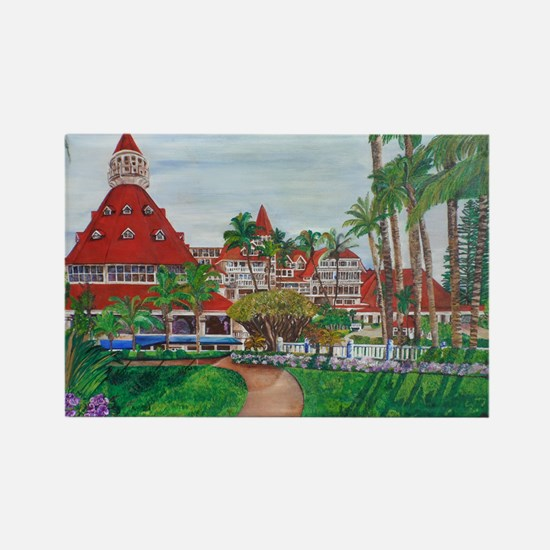 Coronado Hotel Del Rectangle Magnet