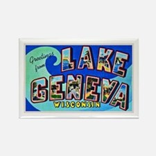 Lake Geneva Wisconsin Greetings Rectangle Magnet