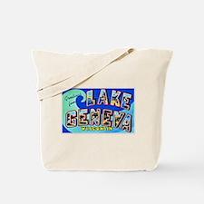 Lake Geneva Wisconsin Greetings Tote Bag
