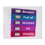 Binders Full of Women for Obama Throw Blanket