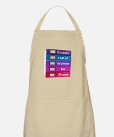 Binders Full of Women for Obama Apron