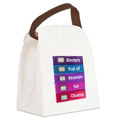 Binders Full of Women for Obama Canvas Lunch Bag