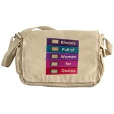 Binders Full of Women for Obama Messenger Bag