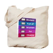 Binders Full of Women for Obama Tote Bag
