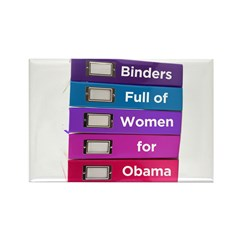 Binders Full of Women for Obama Rectangle Magnet (