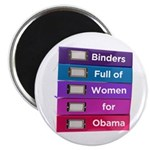 Binders Full of Women for Obama Magnet