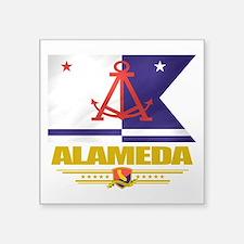 "Alameda (Flag 10).png Square Sticker 3"" x 3"""