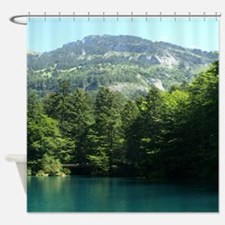 Mountains and Lakes Shower Curtain