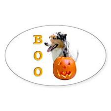 Halloween Aussie Boo Oval Decal
