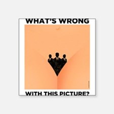 """Reproductive Rights Square Sticker 3"""" x 3"""""""