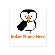 Personalized Puffin Square Sticker 3