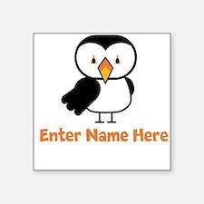 """Personalized Puffin Square Sticker 3"""" x 3"""""""