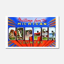 Michigan Copper Country Car Magnet 20 x 12