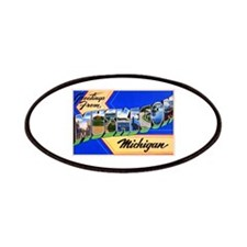 Muskegon Michigan Greetings Patches