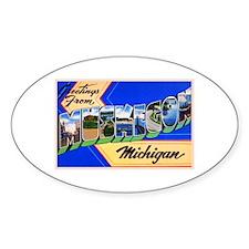Muskegon Michigan Greetings Decal