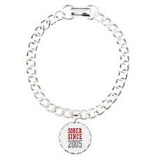 Sober Since 2005 Charm Bracelet, One Charm