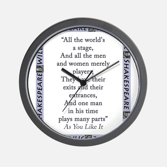 All The Worlds A Stage Wall Clock