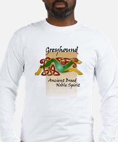 Colorful Celtic Greyhound LS T-shirt