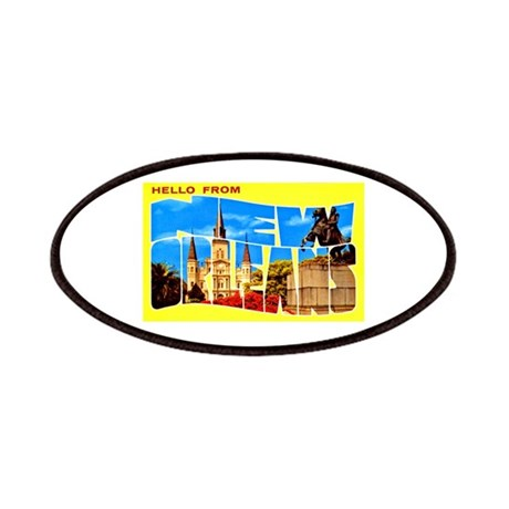 New Orleans Louisiana Greetings Patches