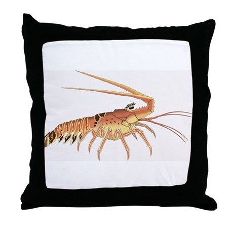 Lobster Heads Right Throw Pillow
