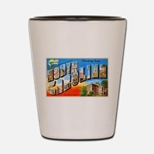 North Carolina Greetings Shot Glass