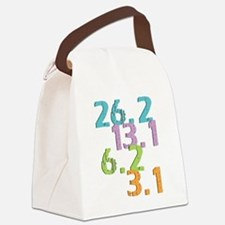 runner distances Canvas Lunch Bag