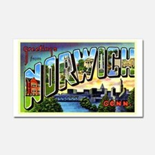 Norwich Connecticut Greetings Car Magnet 20 x 12
