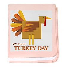 First Turkey Day baby blanket