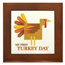 First Turkey Day Framed Tile