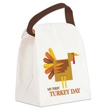 First Turkey Day Canvas Lunch Bag
