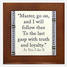 Master, Go On Framed Tile