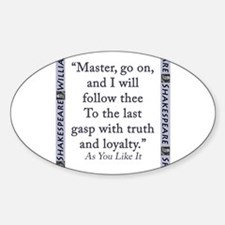 Master, Go On Sticker (Oval)