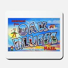 Oak Bluffs Massachusetts Greetings Mousepad