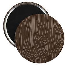 """Chocolate Brown Wood Grain 2.25"""" Magnet (100 pack)"""