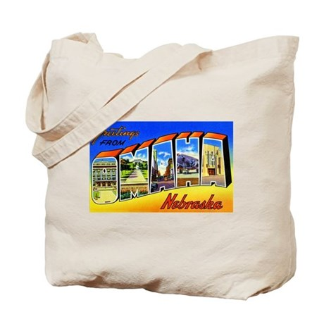 Omaha Nebraska Greetings Tote Bag