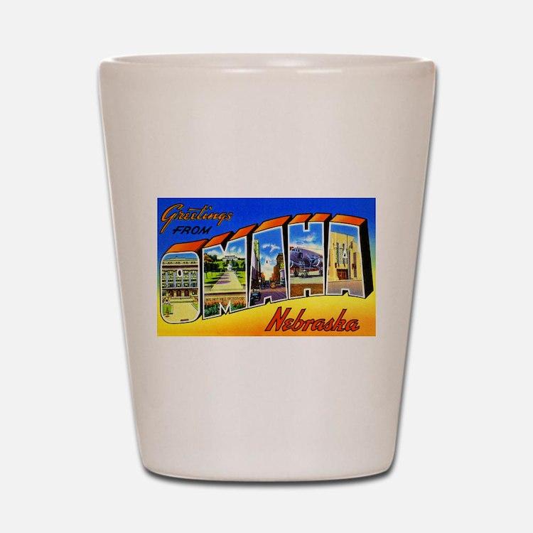 Omaha Nebraska Greetings Shot Glass