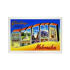 Omaha Nebraska Greetings Rectangle Magnet (10 pack