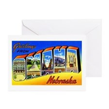 Omaha Nebraska Greetings Greeting Cards (Pk of 20)
