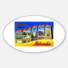 Omaha Nebraska Greetings Decal